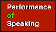 performance of speaking logo